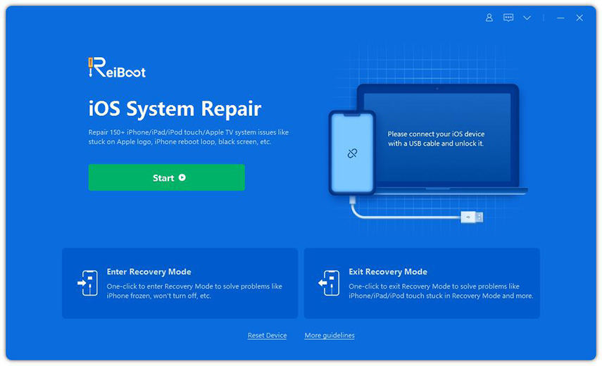 start to use iOS system repair tool