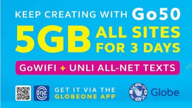 Photo of Globe Go50 With 5GB Data All Sites For 3 Days