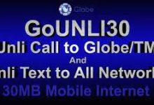 Photo of GOUNLI95 – 95 Pesos Globe Promo with Unli Call, All Net texts